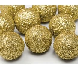 Burbuļi-dekorācijas, zelts (9 gab/3 cm)