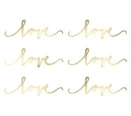 """Декорации """"Love"""" (6 шт)"""