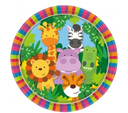 """Šķīvīši """"Džungļi"""" (8 gab/ 23 cm)"""