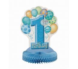 """Galda dekorācija """"Pirmā dzimšanas diena"""", zila"""