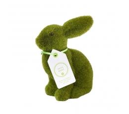Декоративный зайчик, зеленый (20 см)