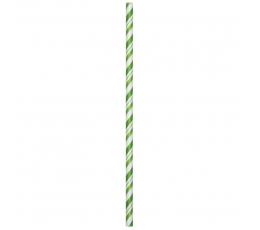 Salmiņi, zaļi strīpaini (24 gab)