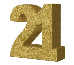 "Galda dekorācija, zelta ""21"" (20 cm)"