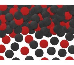 Papīra konfettī, sarkana-melni (5 g)