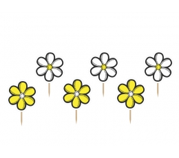 """Декорации для закусок """"Цветы""""(6 шт)"""