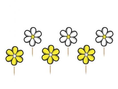 """Uzkodu dekorācija """"Ziedi"""" (6 gab)"""