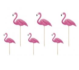 """Декорации, шпажки """"Фламинго"""" (6 шт)"""