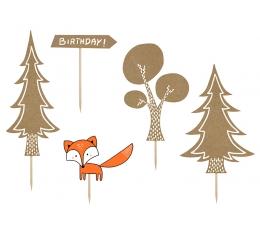 """Iepraužama tortes dekorācija """"Mežs"""" (5 gab)"""