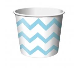 Чашечки для закусок  , светло  синие  зигзаги (6 шт)