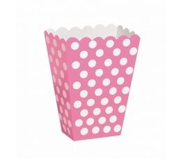 Kastītes uzkodām, rozā ar punktiem (8 gab)