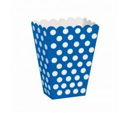 Kastītes uzkodām, zilas ar punktiem (8 gab)