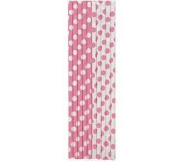 Salmiņi, rozā punktaini (10 gab)