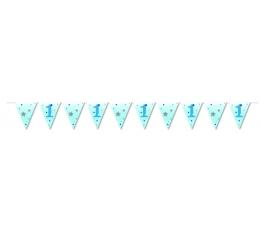 Karodziņu virtene . zilas zvaigznītes (3,7m)