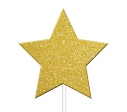 """Irbulīši dekorācijas """"Zelta zvaigznes"""" (12 gab)"""