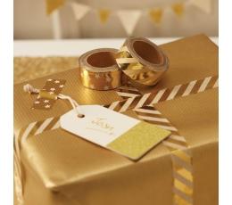 Etiķetes, šampanieša krāsas-zelta (10 gab)