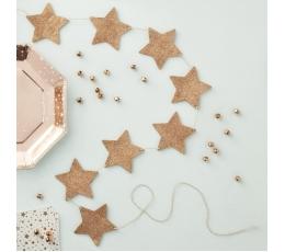 "Koka virtene ""Zvaigznes, rozā-zelts"" (1,2 m)"
