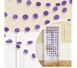 Karināmas dekorācijas, spīdīgas violetas (6 gab/ 2,13 m)