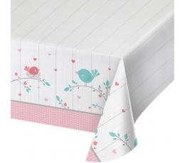 """Galdauts """"Putniņi"""", rozā (137 x 259 cm)"""