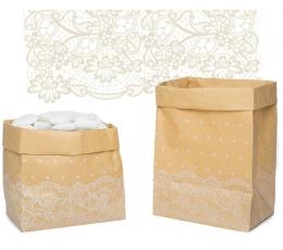 """Papīra maisiņi """"Mežģīnes"""" (6 gab)"""