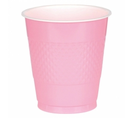 Plastmasas glāzītes, rozā (10 gab/ 355 ml)