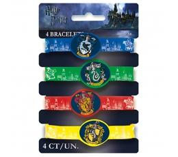 """Резиновые браслеты """"Гарри Поттер"""" (4 шт)"""