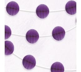 Bumbiņu virtene, violeta (2,13 m)