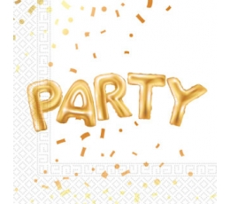 "Salvetes ""Party"", baltas-zelta (20 gab)"