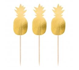 """Irbulīši dekorācijas """"Zelta ananasi"""" (20 gab)"""