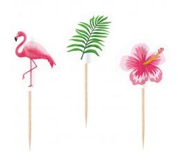"""Irbulīši, dekorācijas """"Rozā flamingo"""" (10 gab)"""