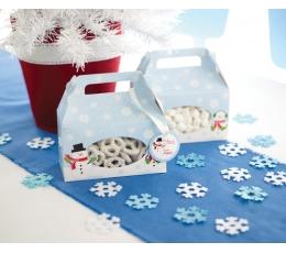 """Kastītes saldumiem """"Sniegavīrs"""" (4 gab)"""