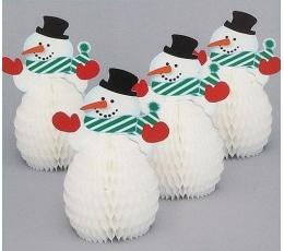 """Galda dekorācijas """"Sniegavīrs"""" (4 gab)"""