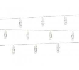 LED knaģīšu virtene (1,4 m/ 10 knaģīši)