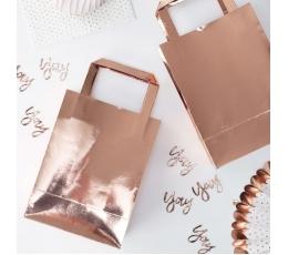 Dāvanu maisiņi, rozā zelta krāsā (5 gab)