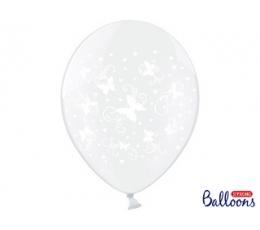 """Balons """"Balti taureņi"""" (30 cm)"""