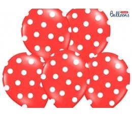 Balons, sarkans, punktains (30 cm)