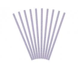 Salmiņi, violeti zigzagi (10 gab)