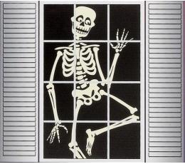 """Декорация для окна """"Призрак - скелет"""""""