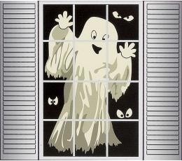 """Декорация для окна """"Призрак"""""""