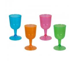 Glāzes vīnam, daudzkrāsainas/ neona (20 gab)