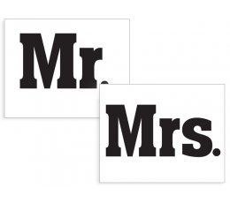 "Наклейки  ""Mr&Mrs"" (2 шт)"