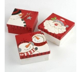 """Dāvanu kastīte """"Ziemassvētku vecītis/Sniegavīrs"""""""