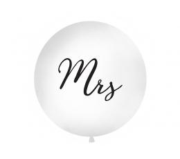 """Гигантский воздушный шар """"Mrs"""", белый (1 м)"""
