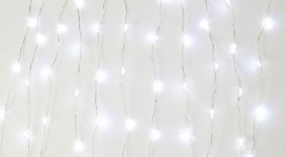LED gaismiņu vītne galdam, balta (3 m)