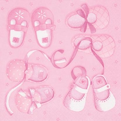 "Salvetes ""Meitenes kurpītes"" (20 gab)"