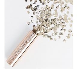 """Mini konfettī plaukšķene """"Rozā-zelts"""" (15 cm)"""