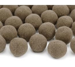 Декоративные плюшевые шарики, коричневые (2 см/ 20 шт)