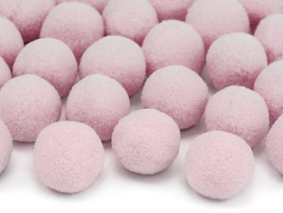 Plīša bumbiņas, dekorācijas, rozā (2 cm / 20 gab)