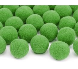 Plīša bumbiņas, salātkrāsas (2 cm/ 20 gab)