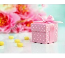Dāvanu kastīte, rozā punktainas (10 gb)