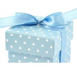 Dāvanu kastītes, zilas punktainas (10gb)